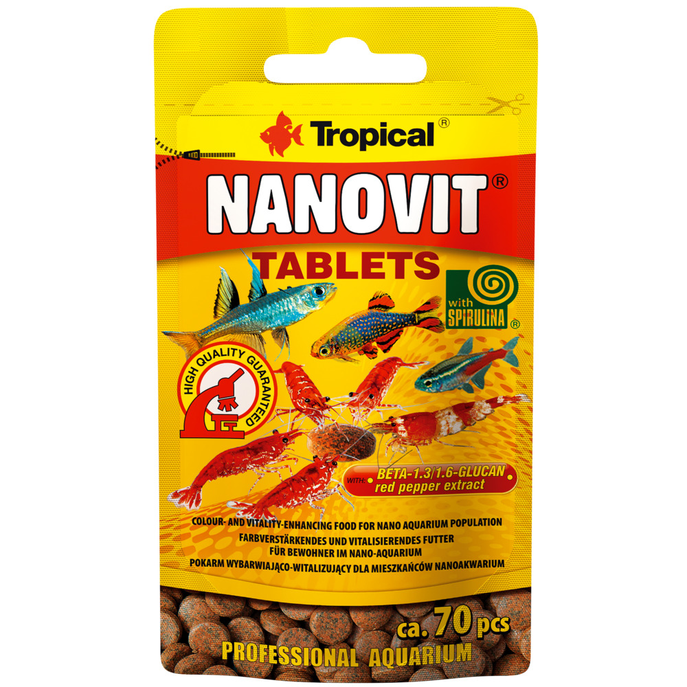Pokarm Tropical Nanovit tablets [70 tabletek] - 20701