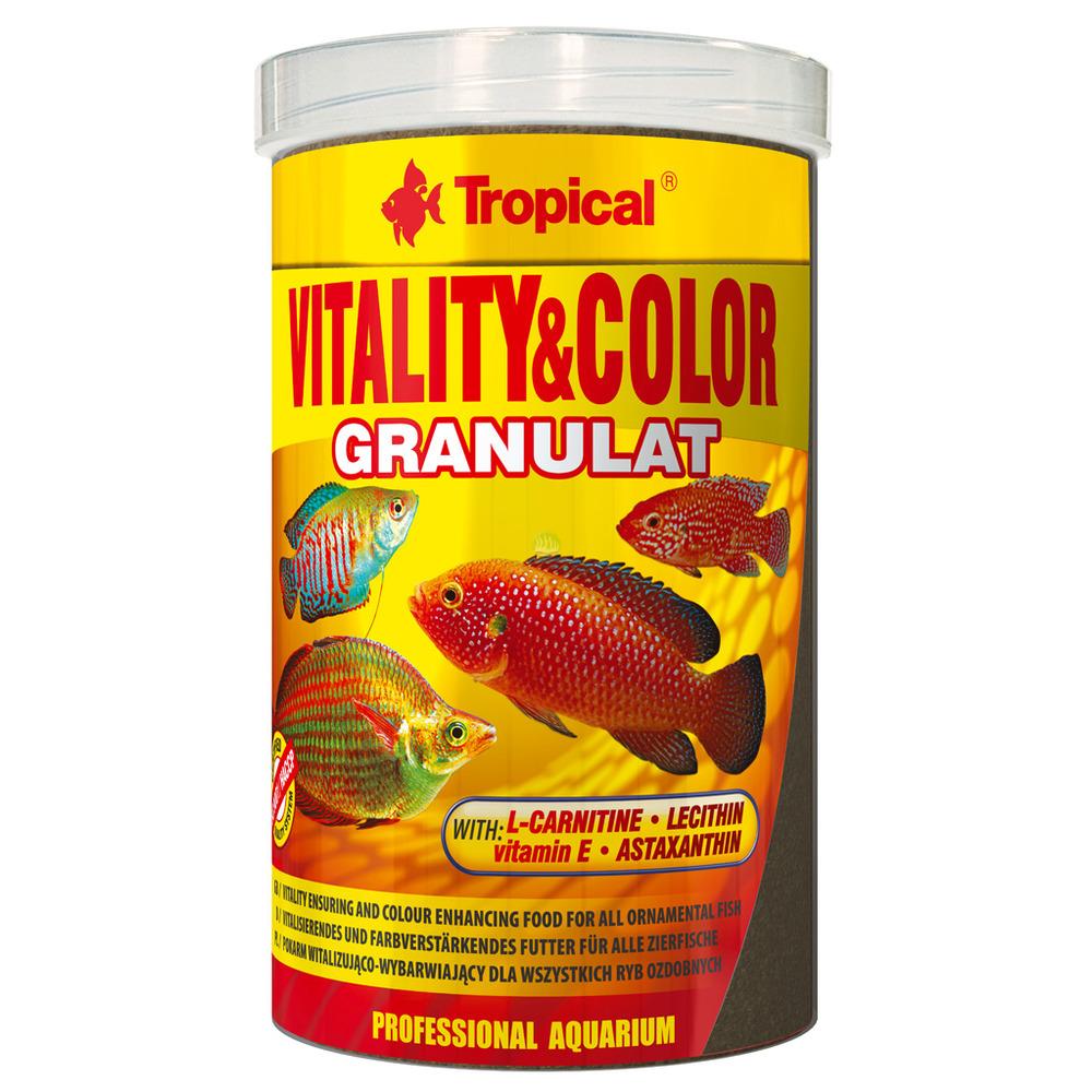 Pokarm Tropical Vitality & Color Granulat [250ml] (60444) - wybarwiający
