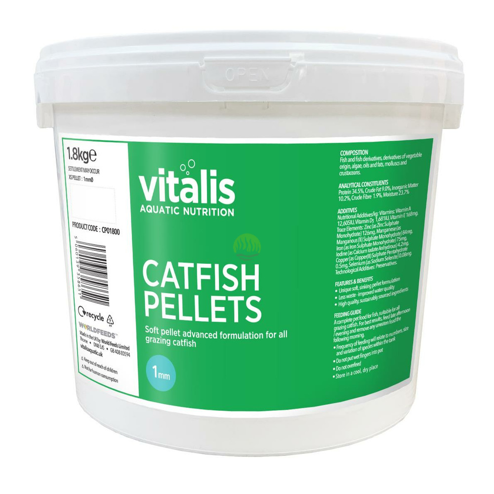 Pokarm Vitalis Catfish Pellets XS 1mm [1,8kg/3,8l] - dla ryb dennych