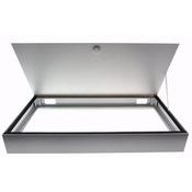 Pokrywa aluminiowa 100x50 srebrna [bez oświetlenia]