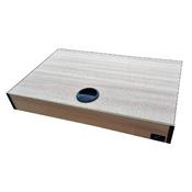 Pokrywa aluminiowa AQUASTEL MINIALU prosta LED (50x30cm 2x7W) - wybierz kolor