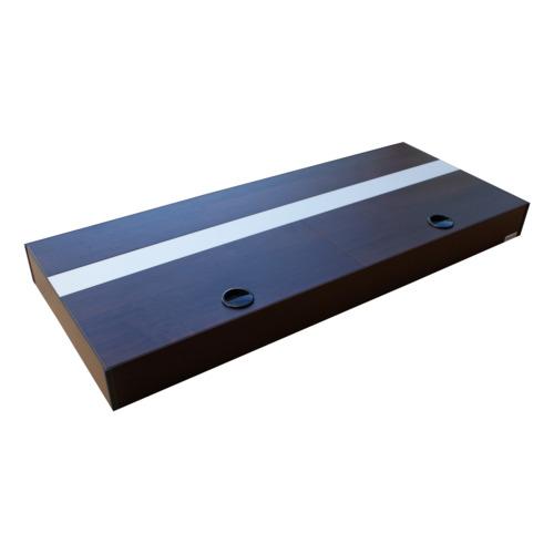 Pokrywa aluminiowa AQUASTEL MINIALU prosta LED (80x35cm 2x18W) - wybierz kolor i wersję