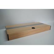 Pokrywa aluminiowa AQUASTEL prosta LED (80x35cm 1x18W) - wybierz kolor i wersję
