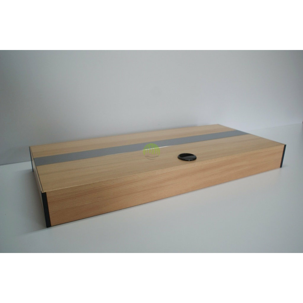 Pokrywa aluminiowa AQUASTEL prosta LED (80x35cm 2x18W) - wybierz kolor i wersję