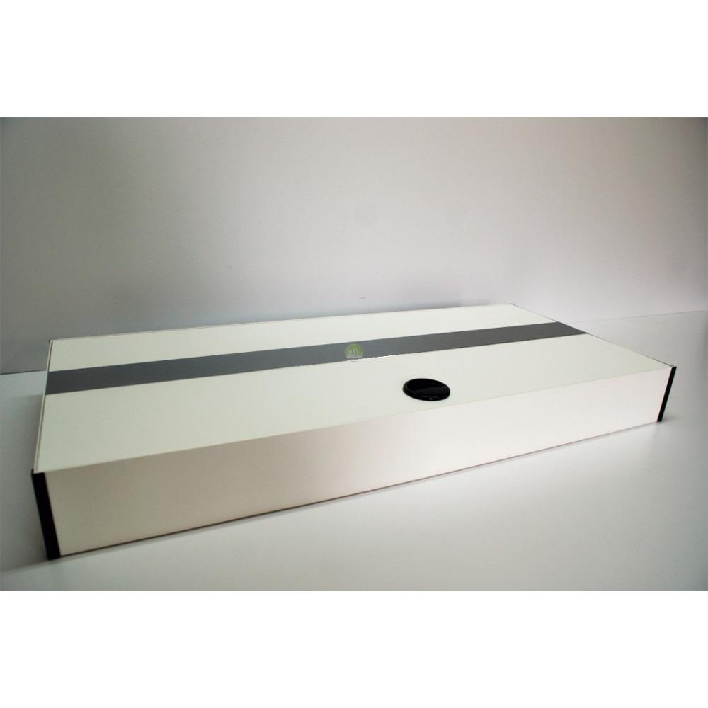 Pokrywa aluminiowa AQUASTEL prosta T5 (80x35cm 2x24W) - wybierz kolor