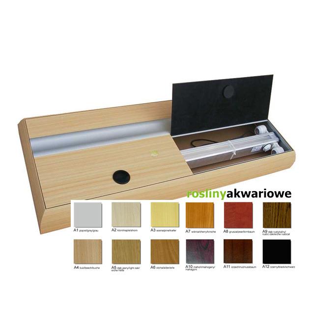 Pokrywa aluminiowa prosta T8 (200x60cm 2x58W) - wybierz kolor