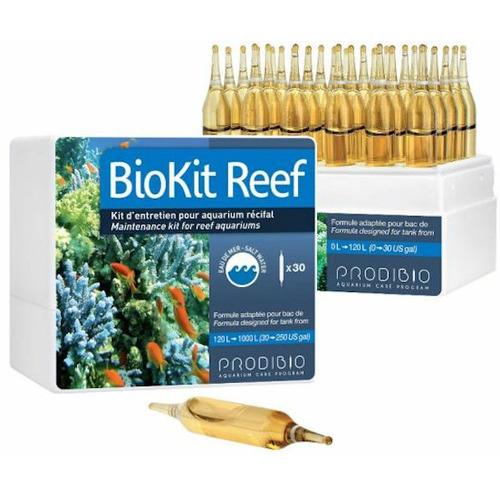 Prodibio BioKit Reef 30 ampułek - Zestaw zawiera produkty potrzebne do utrzymania akwarium morskiego