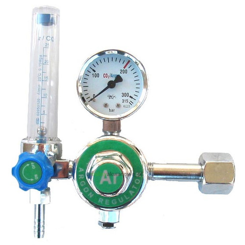 Reduktor CO2 z zaworem iglicowym i rotametrem