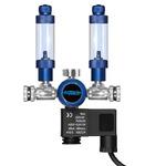 Reduktor dwuwylotowy Aquario BLUE TWIN Professional - na 2 akwaria z elektrozaworem