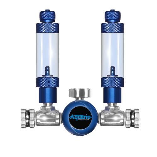 Reduktor dwuwylotowy Aquario BLUE TWIN Standard - na 2 akwaria