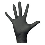 Rękawice ochronne nitrylowe CZARNE - 100 sztuk