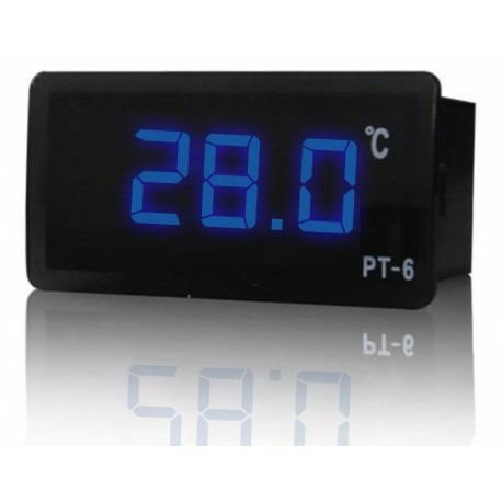 Ringder PT-6 Termometr cyfrowy niebieski 12V