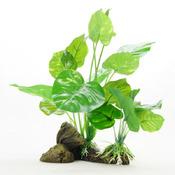 Roślina sztuczna Yusee - anubias na korzeniu (15x10x22cm)