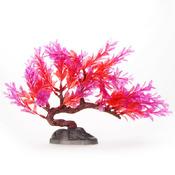 Roślina sztuczna Yusee - drzewko bonsai czerwone (15cm)