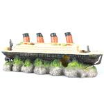 SHIPWRECK TITANIC - Wrak statku TITANIC 39x11x14cm + kamień nap.