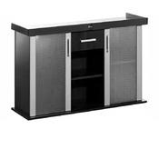 Szafka Modern 150x50x77 prosta/profil - kolor czarny