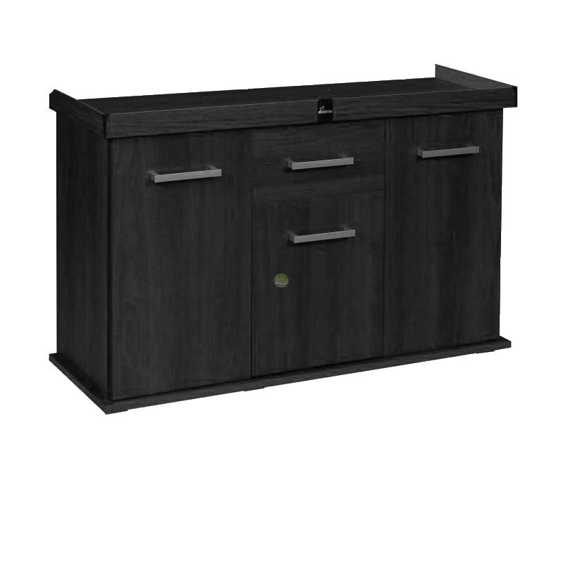 Szafka Solid 160x60x75 prosta/profil - kolor czarny