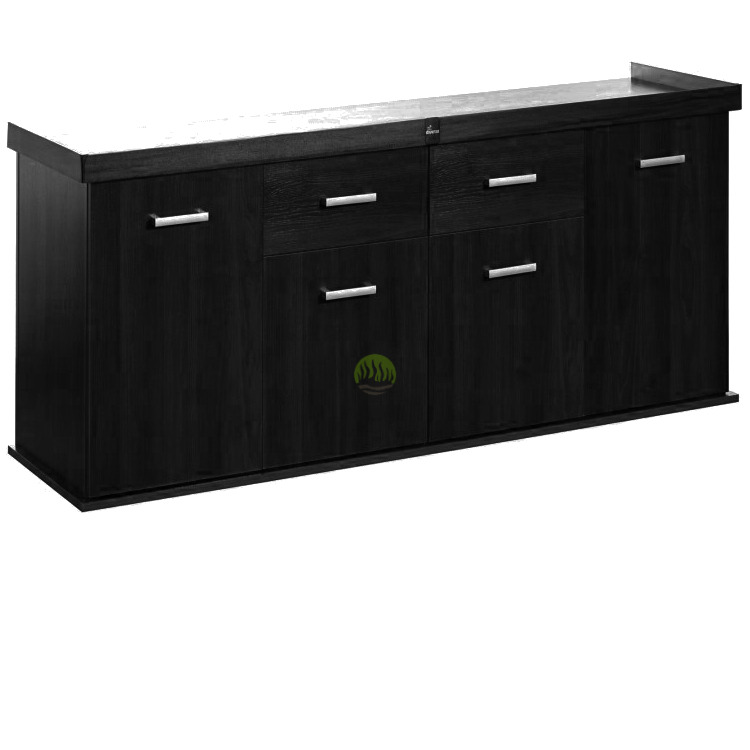 Szafka Solid 200x60x75 prosta/profil - kolor czarny