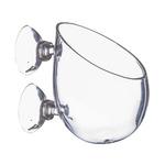 Szklana doniczka POLKA PP1 z przyssawkami