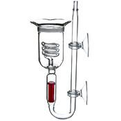 Szklany dyfuzor 3w1 AquaGlass [35mm] - z licznikiem i zaworkiem