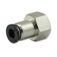 Szybkozłączka metalowa Qpneumatic GW [1/4 cala] do reduktora z rotametrem
