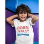 T-shirt dziecięcy BORN TO BE AN AQUARIST - biały