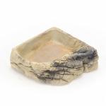 Terrario StoneLake M - rogowa miska na wodę 14x14x4cm