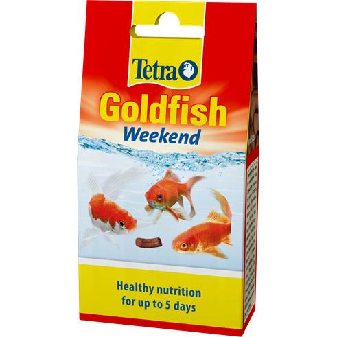 Tetra Goldfish Weekend [40szt] - pokarm weekendowy dla welonów