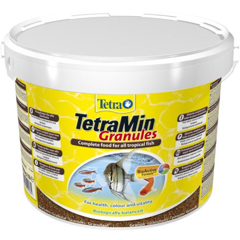 Tetra Min Granules [10l, wiaderko] - dla ryb ozdobnych, granulki