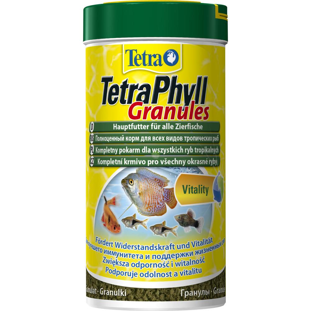 Tetra Phyll Granules [250ml] - pokarm roślinny dla ryb, granulki