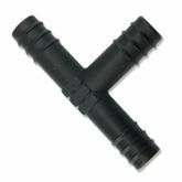 Trójnik na wąż 12/16mm (czarny)