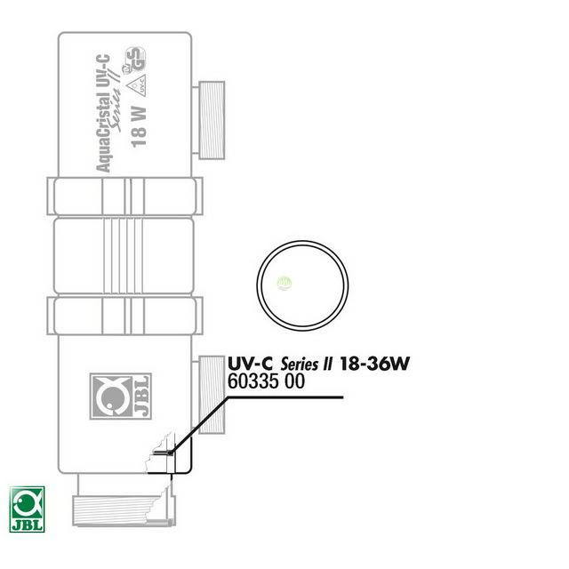 Uszczelka do lampy UV JBL UV-C 18/36W - 2 sztuki (6033500)
