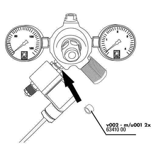 Uszczelka do reduktora JBL v002 an u001, m001 (6341000)