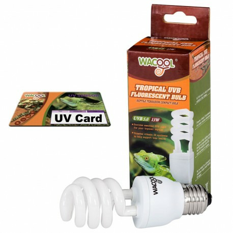 WaCool Desert żarówka UVB 10.0 13W + sensor fal UV