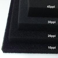 Wkład filtracyjny - gąbka 20x20x1cm 20PPI - czarna