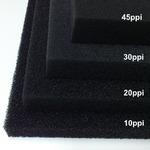 Wkład filtracyjny - gąbka 20x20x3cm 10PPI - czarna