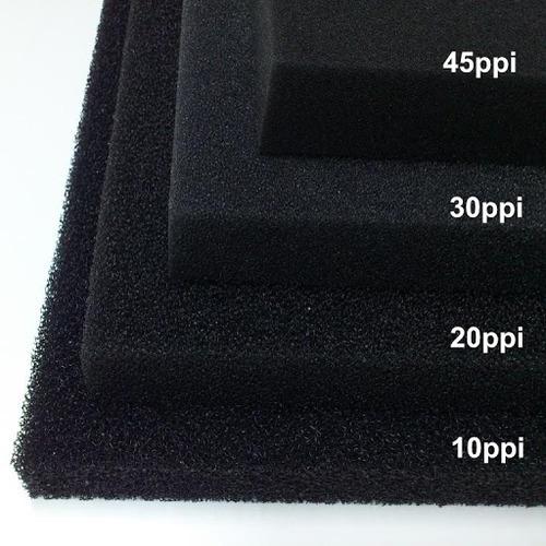 Wkład filtracyjny - gąbka 25x25x1cm 45PPI - czarna