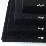 Wkład filtracyjny - gąbka 25x25x3cm 10PPI - czarna