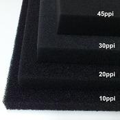 Wkład filtracyjny - gąbka 25x25x5cm 10PPI - czarna