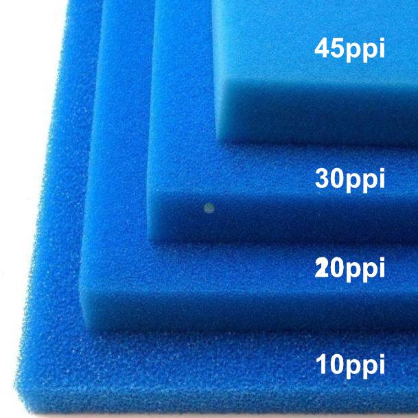 Wkład filtracyjny - gąbka 25x25x5cm 20PPI - niebieska
