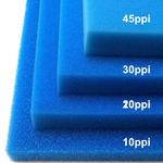 Wkład filtracyjny - gąbka 35x30x1cm 20PPI - niebieska