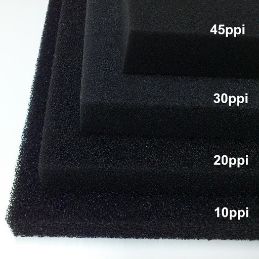 Wkład filtracyjny - gąbka 35x30x5cm 30PPI - czarna
