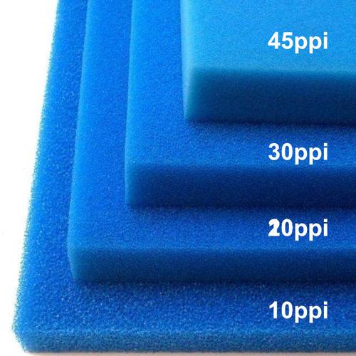 Wkład filtracyjny - gąbka 50x50x5cm 20PPI - niebieska