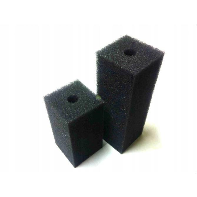 Wkład gąbka do filtra, kwadratowa, czarna [12x7cm]