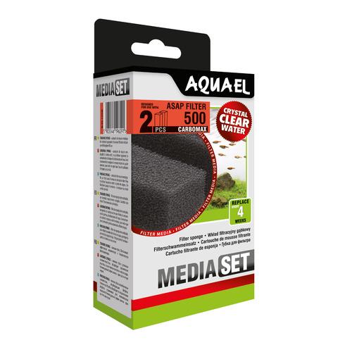 Wkład gąbkowy Aquael ASAP 500 CARBOMAX [2szt]