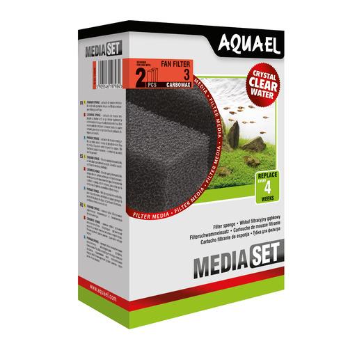 Wkład gąbkowy Aquael FAN 3 Plus CARBO [2szt]