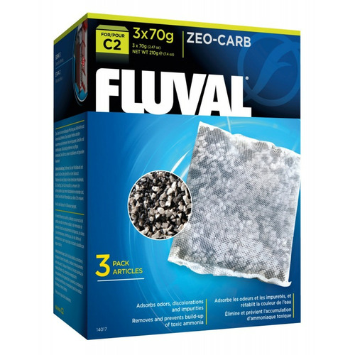 Wkład węglowy Zeo-Carb filtra Fluval C2 [3x70g] - zeolit + węgiel
