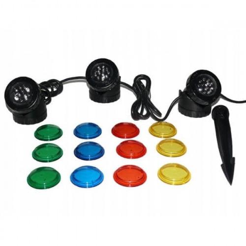 Wodoodporna lampa LED [3x1.6W] (12V)