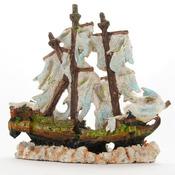 Yusee Dekoracja - Statek Wrak Nieumarłych 31x14x29