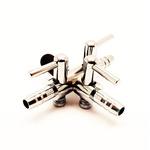 Zawór metalowy [4/6mm] - 3 wyjścia